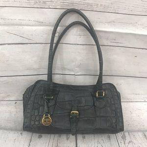 Black Vintage Dooney & Bourke Crocodile Bag